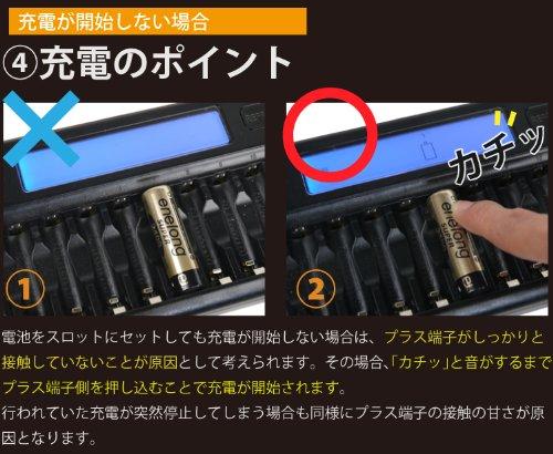 ニッケル水素充電池用充電器 単3単4兼用 ホワイト TGX12 エコスタイル