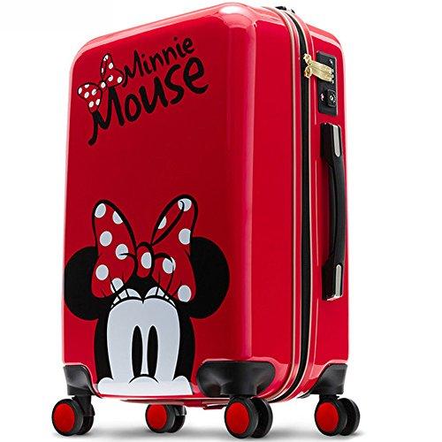 DESENO スーツケース MINNE ミニー 赤 RED レッド Disney ディズニー キャラクター ジッパータイプ TSAロック ダブルキャスター 高性能 ブランド 高級 (S)