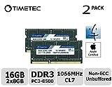 Timetec Hynix IC Apple 16GB Kit (2x8GB) DDR3 PC3-8500 1066 MHz のメモリ アップグレード MacBook 13 インチ2010年半ば, MacBook Pro 13 インチ2010年半ば, iMac 27インチ 後期2009, Mac Mini 2010年半ば/サーバ16GB Kit (2x8GB)