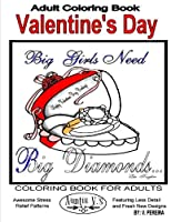Valentine's Day: Coloring Books for Adults - Auntie V. 's Awesome Stress Relief Patterns Featuring Less Detail and Fresh New Designs (Coloring Books for Adults by Auntie V.)
