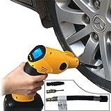 電動エアコンプレッサー 2000MA電池付き 日本向けの高品質プロエアーポンプ緊急モバイルに使用可能 温度センサー付き空気圧検知で要望気圧に確保 自動車 自転車 バイク ボール空気入れ