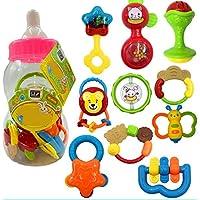 YChoice 可愛い赤ちゃんのおもちゃ ギフト ベビー キュート プラスチック ハンドラトル ベル キッズ ベビー ファニー クローリング おもちゃ ボール ギフト