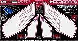 MOTOGRAFIX(モトグラフィックス) ボディパッド STREET TRIPLE 07-10 KNEE ホワイト/レッド MT-KT005RW