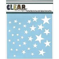 """Clear Scraps Stencils 6""""X6""""-Stars (並行輸入品)"""