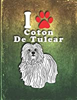 Coton De Tulear: Dog Journal Notebook for Puppy Owner  Undated Planner Daily Weekly Monthly Calendar Organizer Journal