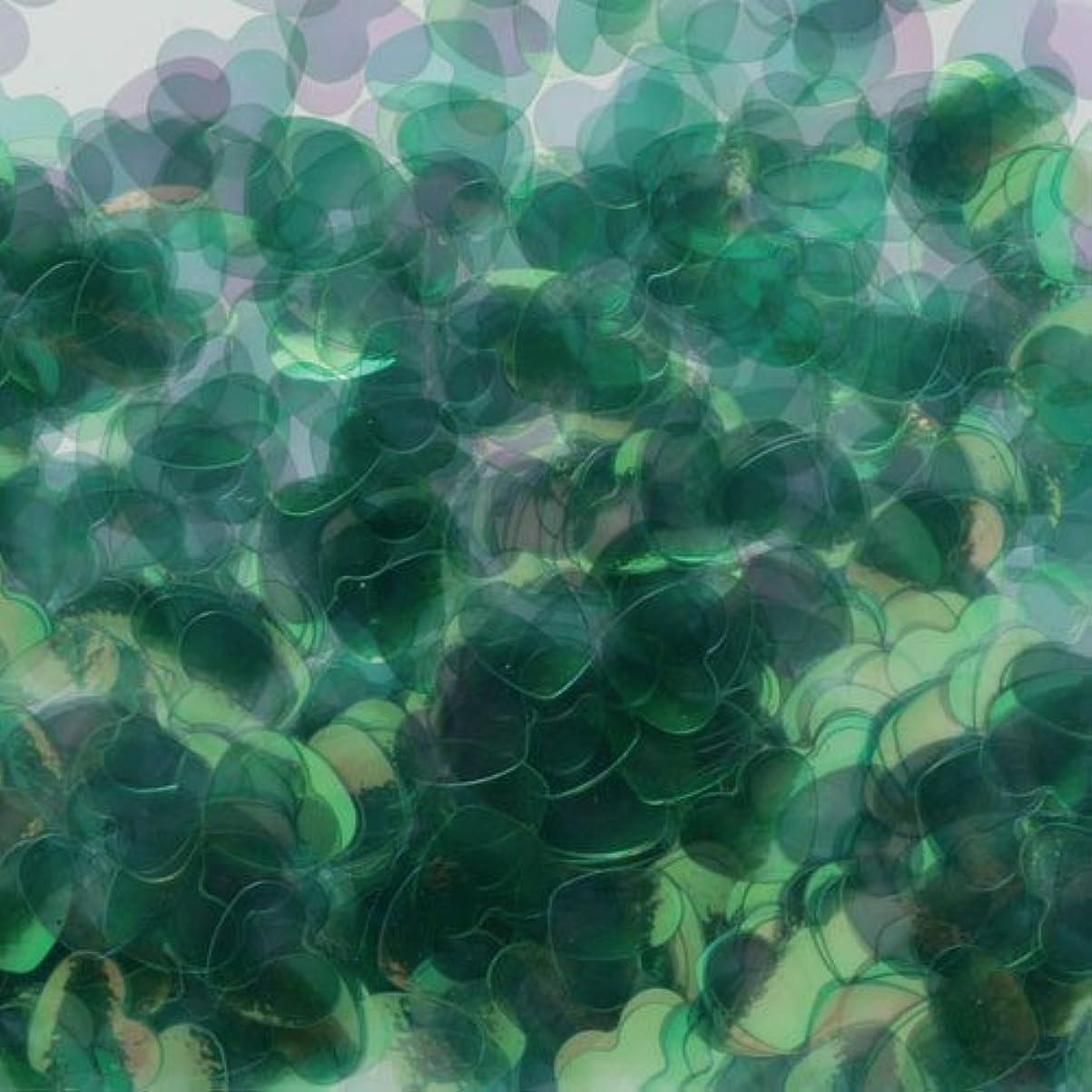 相談ビジュアルぐるぐるピカエース ネイル用パウダー ハートオーロラ 耐溶剤 #790 グリーン 0.5g