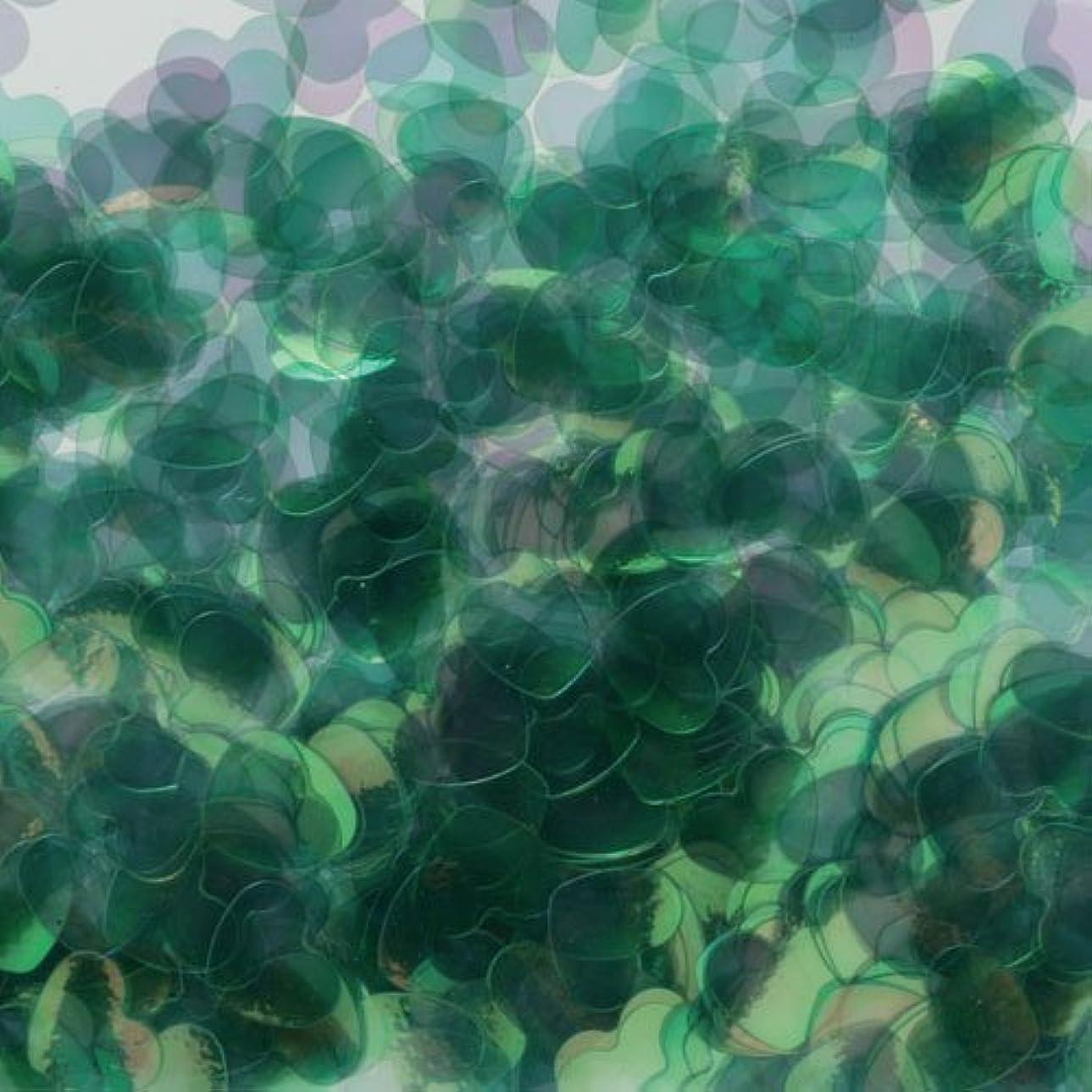 筋うそつき悪名高いピカエース ネイル用パウダー ハートオーロラ 耐溶剤 #790 グリーン 0.5g