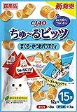チャオ (CIAO) 猫用おやつ ちゅ~るビッツ まぐろかつおバラエティ 12g×15袋
