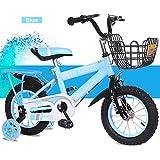 Mariny 子供用自転車2-3-5-6-8歳男性の女性の子供の赤ちゃんのキャリッジ12/14/16/18トレーニング付きのインチの子供の自転車 (色 : 青, サイズ さいず : 16