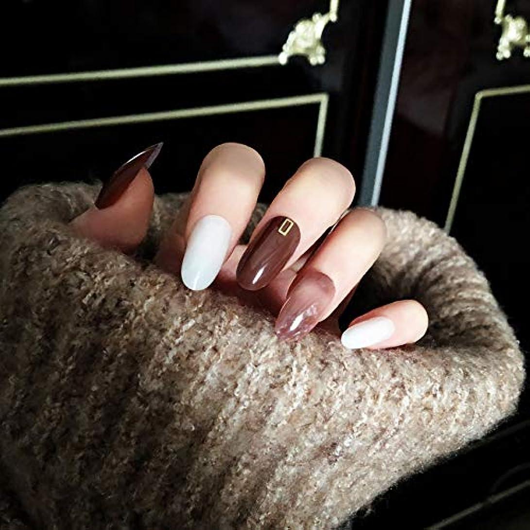 メリー醜い枕NANNAN ネイルチップ ネイルチップ 手作りネイルチップ ネイルジュエリー つけ爪 24枚入 フルチップ シンプル 結婚式、パーティー、二次会などに ネイルアート