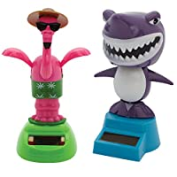 ジョンソンスミスCo。(セット) Flamingo and Shark Solar PoweredウィンドウダンサーNever必要電池