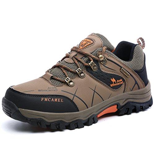 メンズ 登山鞋 ビックサイズ アウトドアシューズ ローカット 運動靴 三色から選べます ブラウン JP285