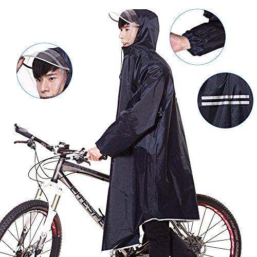 レインコート EocuSun 自転車 バイク ロングポンチョ...