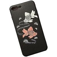 iPhone ケース カバー【金魚】レザー調★オリジナル防滴ケース入★for iPhone 8/iPhone 7