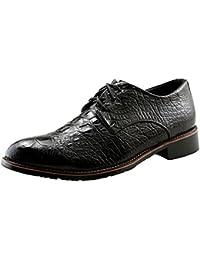 (クイブー) KUIBU メンズ イングランド風 復古個性ワニ紋 高品質 軽量通気消臭 衝撃吸収 柔らか外羽根 ストレートチップ レースアップ アウトレット通勤通学 カジュアル コンフォートシューズ ビジネスシューズ フォーマル 結婚靴 紳士靴