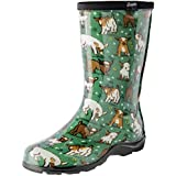 Sloggers Women's Waterproof Rain and Garden Boot with Comfort Insole, Goats Grass Green, Size 9, 5018GOGN09