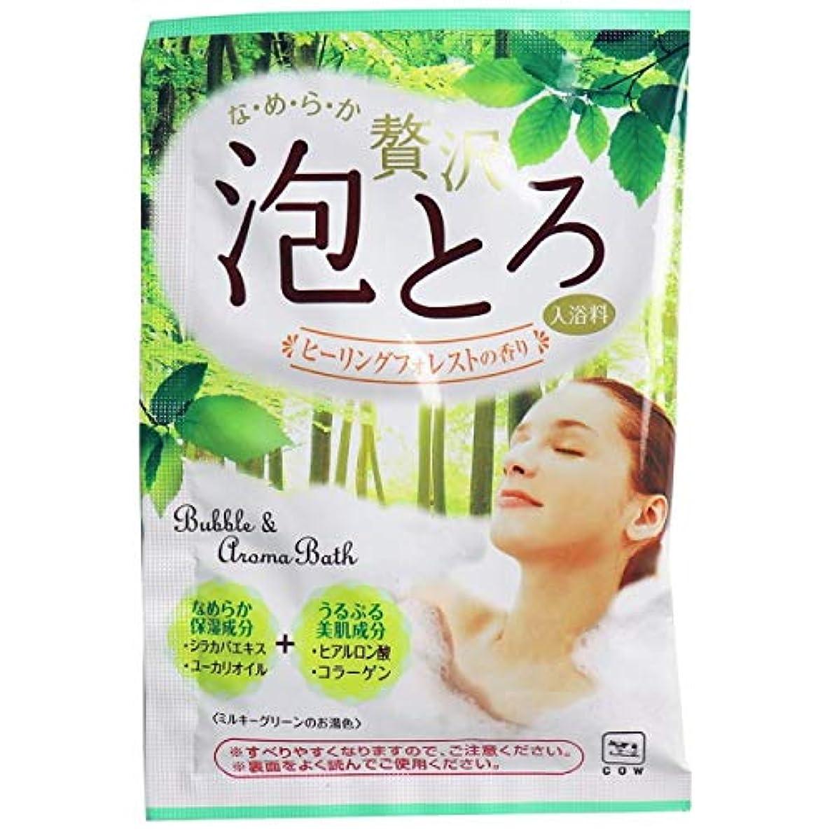 ブラスト間違っている窒素牛乳石鹸 お湯物語 贅沢泡とろ 入浴料 ヒーリングフォレスト30g 16個セット