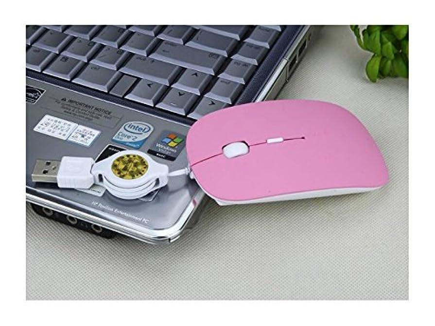 社説カブ恋人FenBuGu-JP テレスコピックの親指のスーパーキャリングミニ有線小型マウスノートブックラップトップ特別なマウス ゲーム