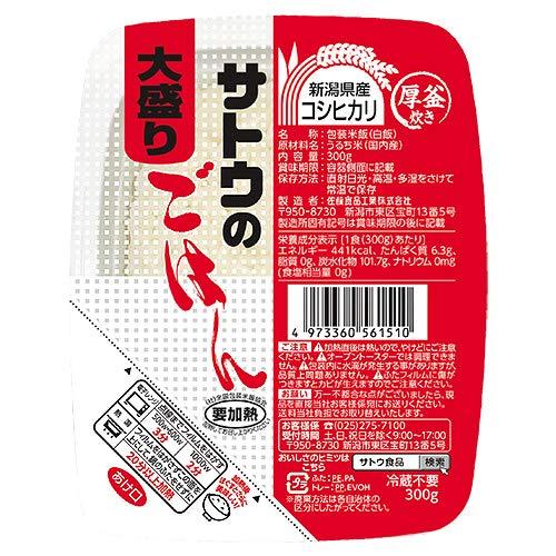 サトウ食品 サトウのごはん 新潟県産コシヒカリ 大盛り300g×24(6×4)個入×(2ケース)