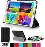 Fyy Samsung Galaxy Tab S 8.4専用保護ケース PUレザー スタンド機能付き マグネット開閉式 ブラック