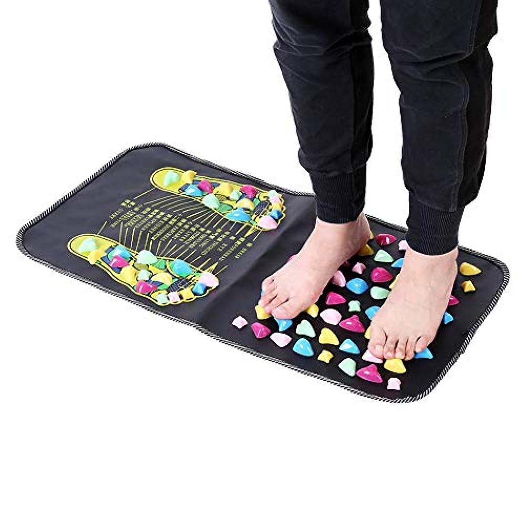 賭けふける脱臼するフットマッサージマット、自然で健康的な足のウォーキングマット、石のリラックスした圧力筋肉の痛みは足の足のマッサージマットを緩和します、深いティッシュの足の筋肉療法のため