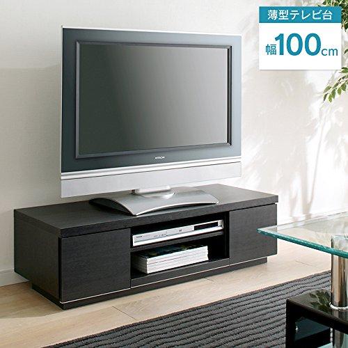 アイリスオーヤマ AVボード 幅100×奥行38.8×高さ28.2cm ブラックオーク BAB-100