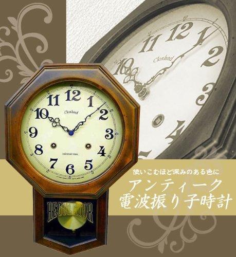 アンティーク電波振り子時計(8角型) DQL624 5939an