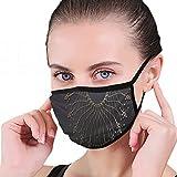 装飾的なラウンドフレームデザイン抽象芸術賞抗空気呼吸器通気性汚染マスクカーボン活性化フィルターN95抗菌顔汚染マスク-再利用可能な再利用可能な快適