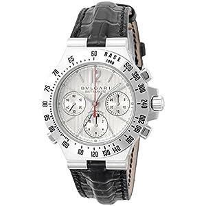 [ブルガリ]BVLGARI 腕時計 ディアゴノクロノ グレー文字盤 自動巻 K18WG アリゲーター革 CHW40C6GLTARA メンズ 【並行輸入品】