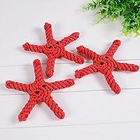幼児期のゲーム かわいいペットのおもちゃ手編みの犬耐虫性のおもちゃ(ヒトデ)