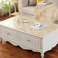 Pvc防水透明テーブルクロスコーヒーテーブルテーブルテーブルテーブルホットスチール長方形のクリーニング ( 色 : B , サイズ さいず : 80*130cm )
