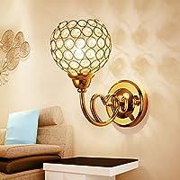 ブラケットライト クリスタルウォールランプベッドサイドランプ現代のミニマリストクリエイティブled屋内壁ランプウォールランプリビングルームの寝室階段壁ランプ、F