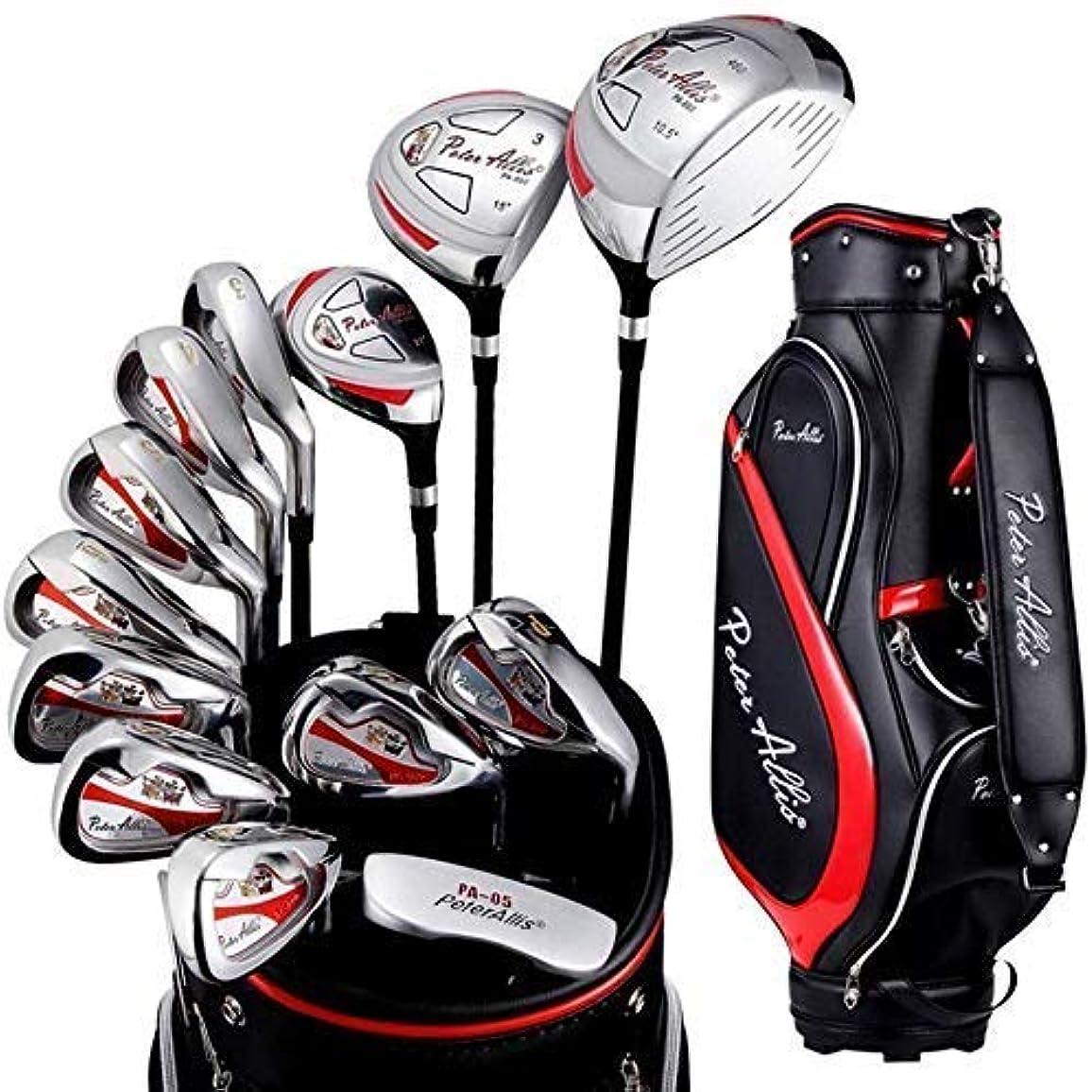 ぬれたトレイ延ばすHUYYA ゴルフはグリーンメンズセミセットポールエクササイズポール初心者のゴルフクラブセット13個ゴルフパターゴルフクラブを置きます,One Color