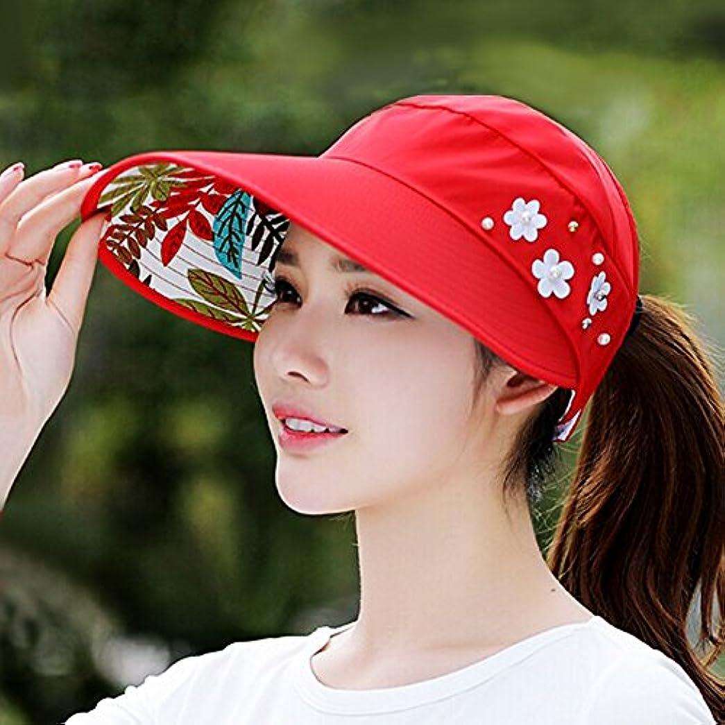 一般的にグレートオーク申請者サンバイザー 帽子 日よけ帽 女性 遮光 紫外線対策 UVカット[TIPFLY] レディース 調節できる 折りたたみ [並行輸入品]