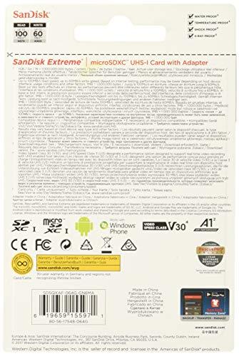 『サンディスク ( SANDISK ) 64GB microSDXC Extreme SDアダプタ付き [海外パッケージ]』の1枚目の画像