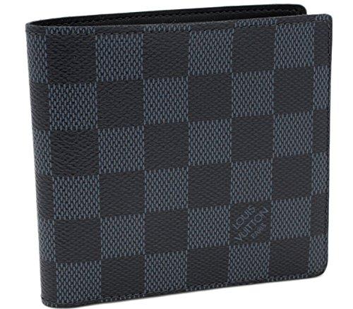 (ルイ・ヴィトン)LOUIS VUITTON 小銭入れ付二つ折り財布 小銭入れあり ポルトフォイユ・マルコ ダミエコバルト N63213