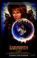 Labyrinth Bムービーポスター11x 17David Bowie Jennifer Connelly Toby Froud Shelleyトンプソン