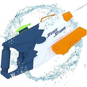 BABCOO 水鉄砲 最強 超強力飛距離 10-12m ウォーターガン 水ピストル 夏の定番 水遊び プール 子供 高性能 おもちゃ 水撃ショット
