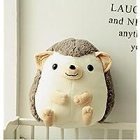 HuaQingPiJu-JP 35cmの高さぬいぐるみヘッジホッグ柔らかいぬいぐるみぬいぐるみ子供のためのかわいいふわふわしたおもちゃのおもちゃのヘッジホッグ(ブラウン)