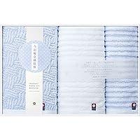 今治製タオル 今治輪奈織紋様 フェイスタオル2P&ウォッシュタオル 22744-00420-302