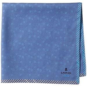 (ランバンオンブルー) LANVIN en Bleu メンズ 先染めハンカチ 形態安定加工 17501008 A ブルー 48cm×48cm