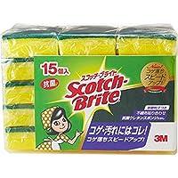 (まとめ買い)スリーエム 3M スコッチブライト スポンジたわし 15個 【×6セット】