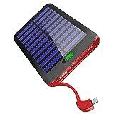 モバイルバッテリー ソーラーチャージャー 16000mAh太陽光充電 2USBポート LEDライト付き 旅行/災害に適用