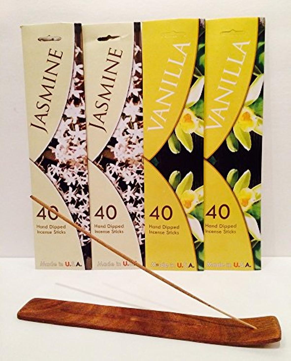 枯れる決定時制160 Incense Sticks Variety Pack w /木製お香スティックバーナーホルダーfor Relaxation、Stress Relief