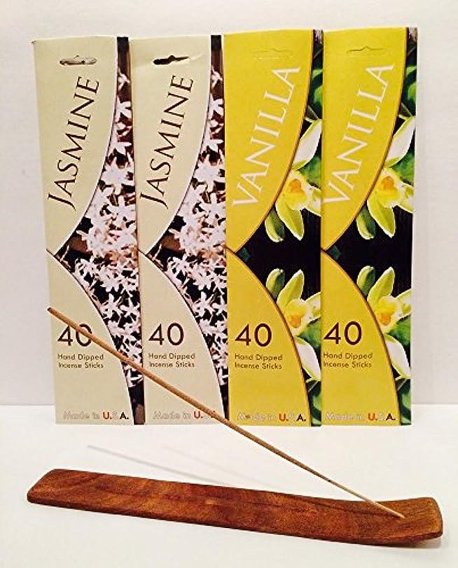 ストッキング二十めまいが160 Incense Sticks Variety Pack w /木製お香スティックバーナーホルダーfor Relaxation、Stress Relief