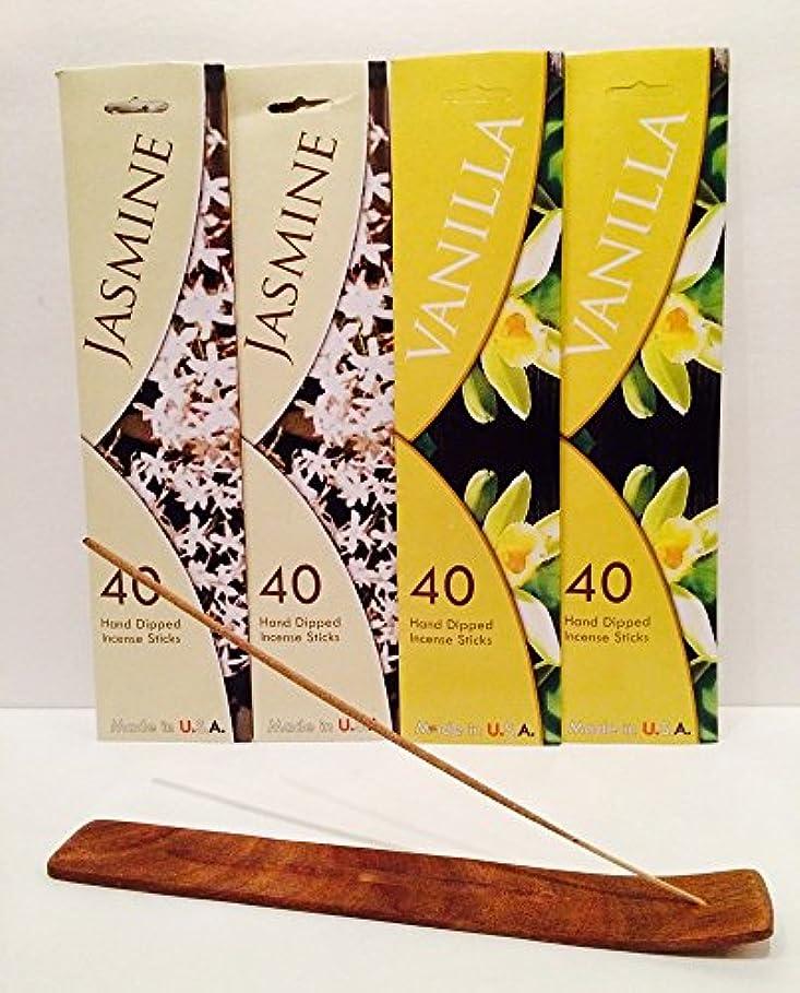 サバントスナックコードレス160 Incense Sticks Variety Pack w /木製お香スティックバーナーホルダーfor Relaxation、Stress Relief