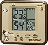 リズム時計 SNOOPY ( スヌーピー ) 温度 ・ 湿度 計 スヌーピーT203 置き掛け兼用 茶 8RD203-M06