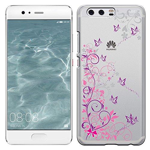 「Breeze-正規品」iPhone ・ スマホケース ポリカーボネイト [透明-Purple] HUAWEI P10 ケース ファーウェイ p10 カバー SIMフリー カバー 液晶保護フィルム付 全機種対応 [P10]