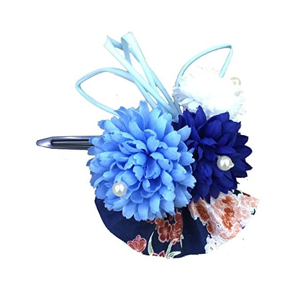 [粋花] Suika 和柄髪飾り 5139 ブルーの商品画像