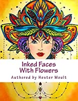 Inked Faces with Flowers: Hand Drawn Art